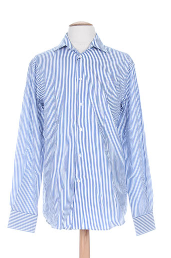 emmanuelle khanh chemises homme de couleur bleu
