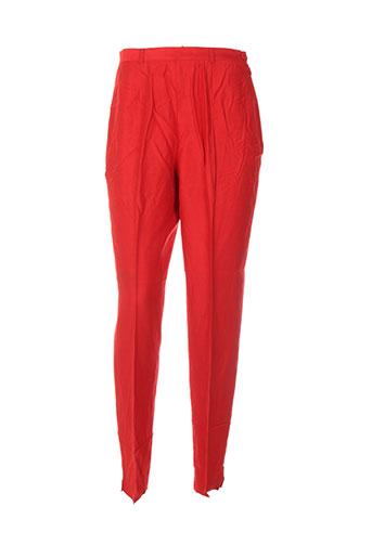 carole richard pantalons femme de couleur rouge