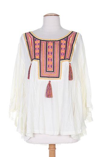 free minds.. chemises femme de couleur blanc