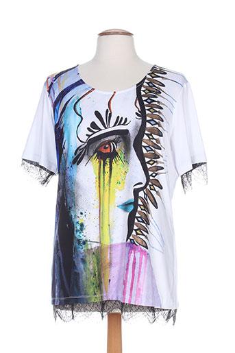 mila cento t-shirts femme de couleur blanc