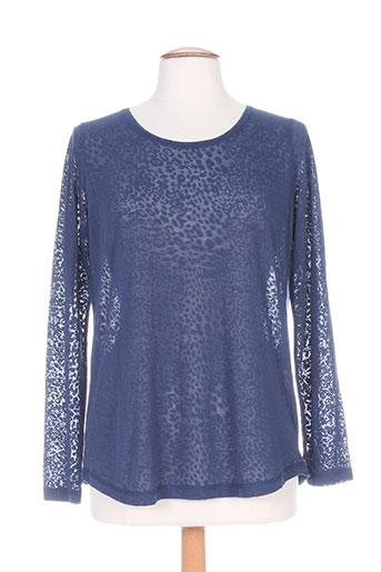 T-shirt manches longues bleu CARMEN pour femme