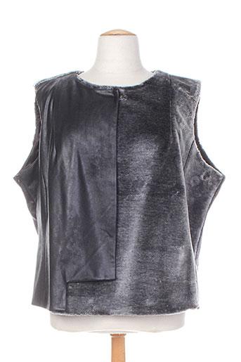 mila cento chemises femme de couleur gris