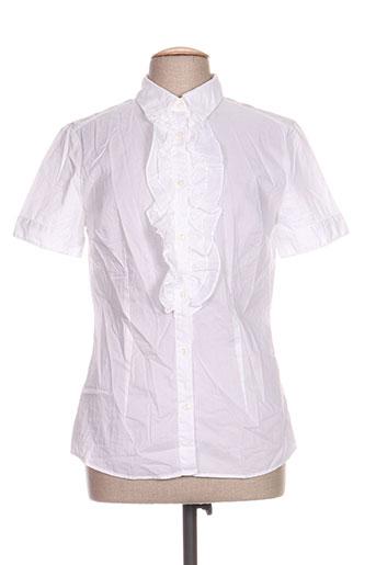 0039 italy chemises femme de couleur blanc