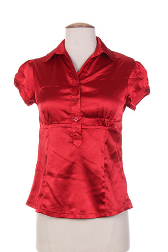 hippocampe chemises femme de couleur rouge