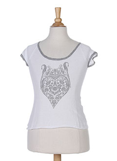 Pull col rond blanc BERENICE pour fille