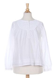 Tunique manches longues blanc BERENICE pour fille