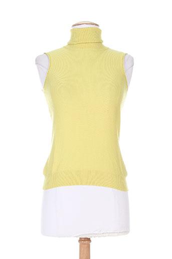 versace pulls femme de couleur jaune