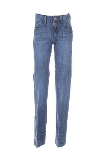 berenice jeans fille de couleur bleu