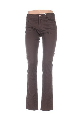Pantalon casual marron ERNEST pour femme