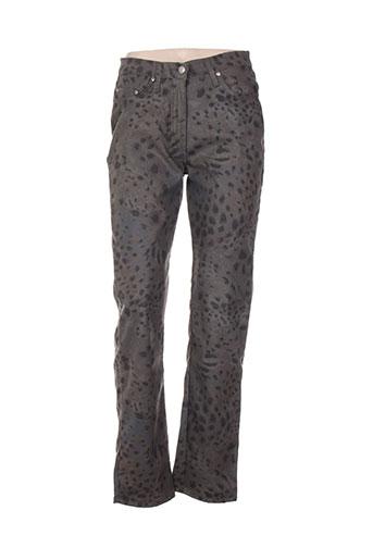 jost pantalons femme de couleur gris