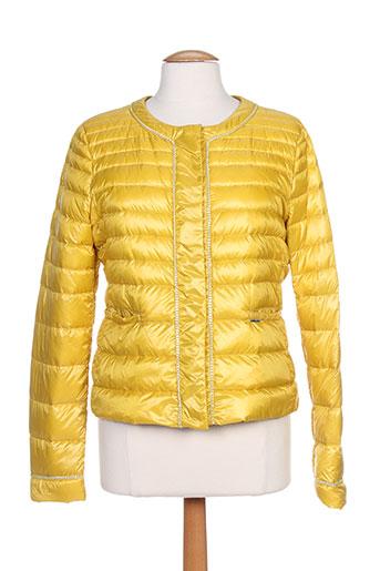 liu jo manteaux femme de couleur jaune