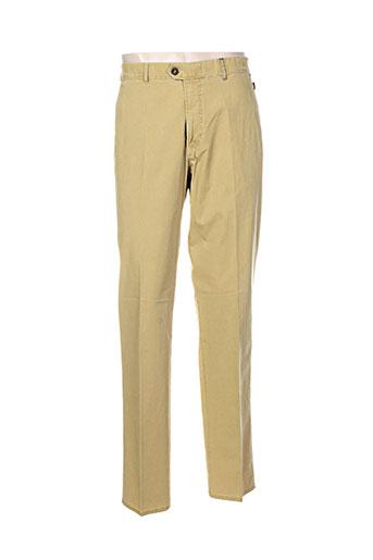 brühl pantalons homme de couleur jaune