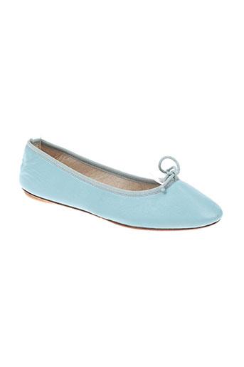 bagllerina chaussures femme de couleur bleu