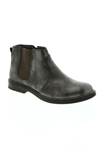 two side chaussures fille de couleur gris