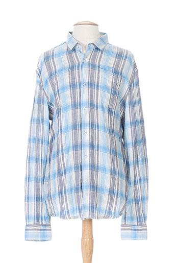 firetrap chemises homme de couleur bleu