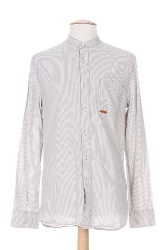 firetrap chemises homme de couleur blanc