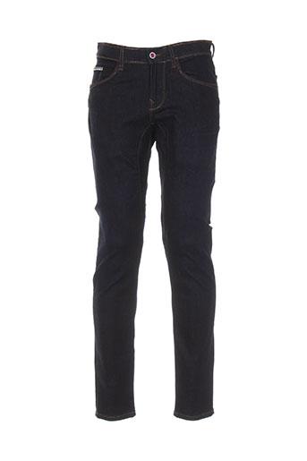 pull in jeans homme de couleur bleu