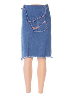 Jupe mi-longue bleu COCA-COLA pour femme