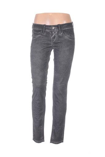 fornarina pantalons femme de couleur gris