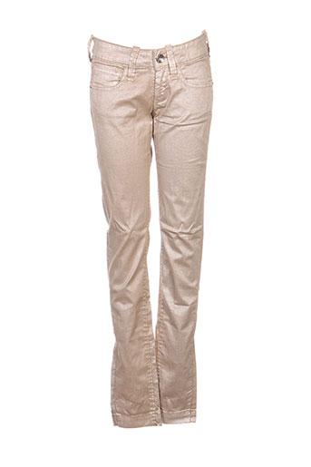 fornarina pantalons femme de couleur beige