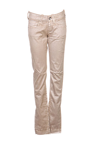 Pantalon casual beige FORNARINA pour femme