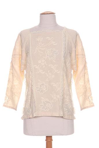 intropia chemises femme de couleur beige