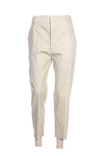 isabel marant pantalons femme de couleur beige