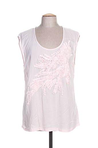 cream chemises femme de couleur rose