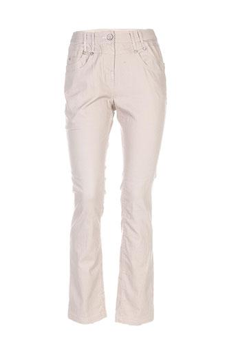 fille des sables pantalons femme de couleur beige