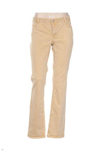 yaya pantalons femme de couleur jaune