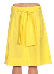 Jupe mi-longue jaune PAULE KA pour femme seconde vue