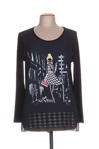 olivier philips t-shirts femme de couleur noir