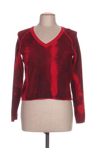 les filles de neaux pulls femme de couleur rouge