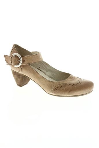 corine chaussures femme de couleur beige