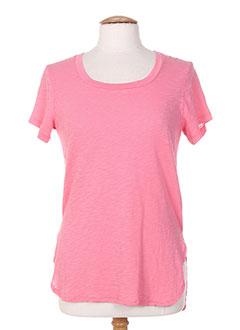 T-shirt manches courtes rose BOBI pour femme