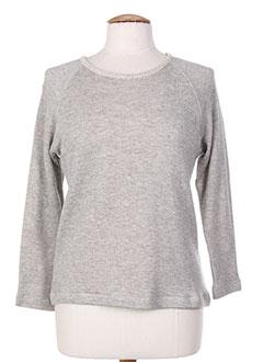 Sweat-shirt gris DROLATIC pour femme