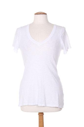 bobi t-shirts femme de couleur blanc
