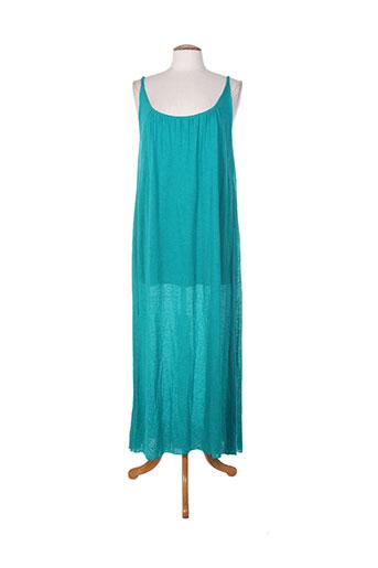 Robe longue vert DROLATIC pour femme