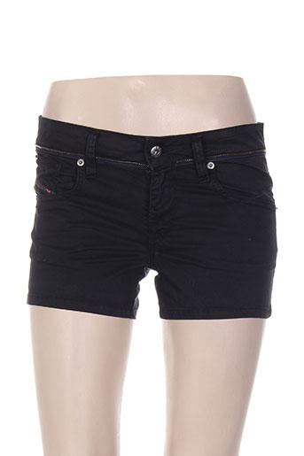 diesel shorts / bermudas femme de couleur noir