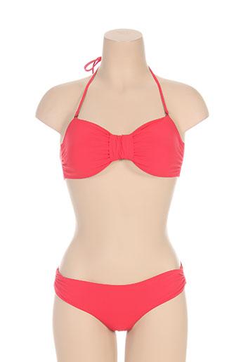 naelie maillots de bain femme de couleur rouge