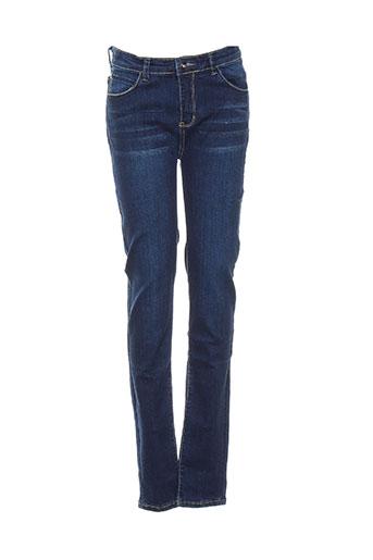 pm loving jeans fille de couleur bleu