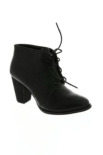 hemji chaussures femme de couleur noir