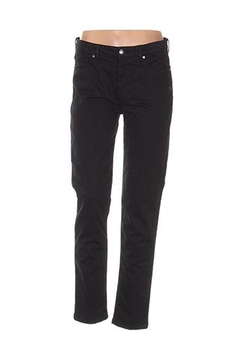 mensi collezioni pantalons femme de couleur noir