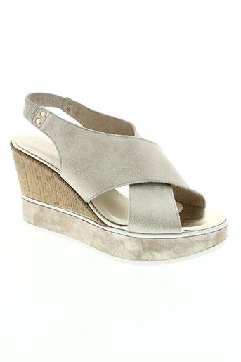 barminton chaussures femme de couleur beige