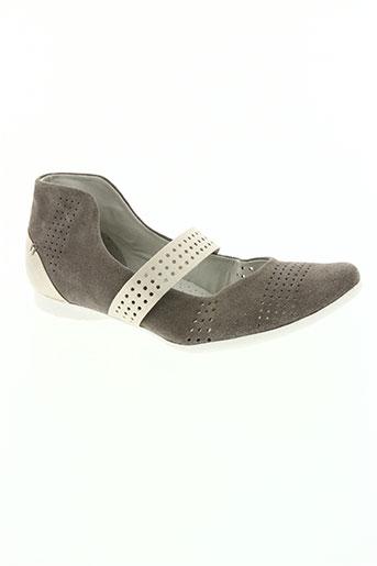 regarde le ciel chaussures femme de couleur gris