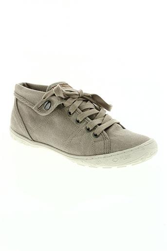 palladium chaussures femme de couleur beige