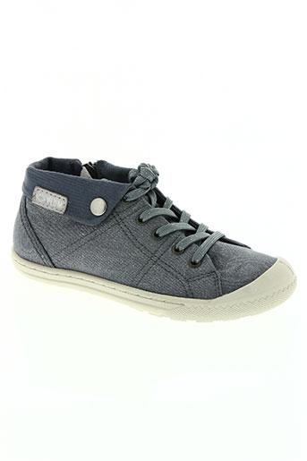 palladium chaussures fille de couleur bleu