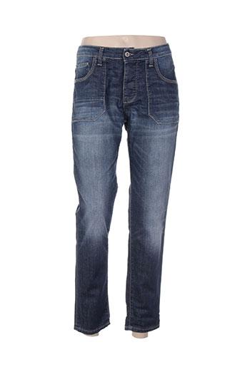please jeans homme de couleur bleu