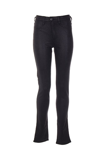 teddy smith pantalons fille de couleur noir