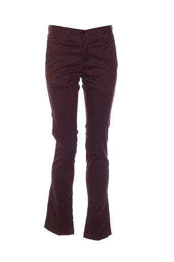 teddy smith pantalons garçon de couleur violet